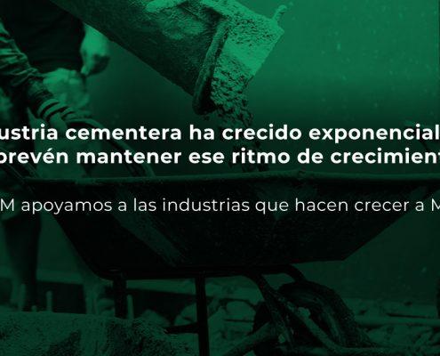 Industria cementera crece exponencialmente.